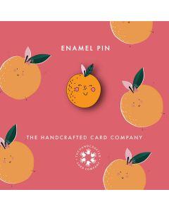 Orange Enamel Pin Badge