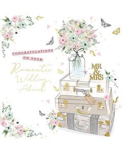 Congratulations on your romantic wedding abroad card