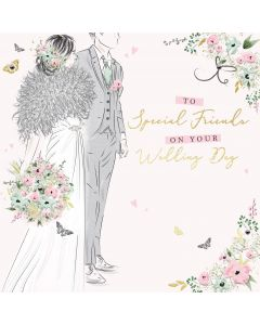To Special Friends on your Wedding Day Card