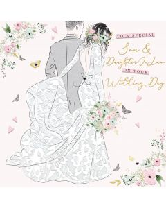To a special Son and Daughter in Law on your Wedding day card