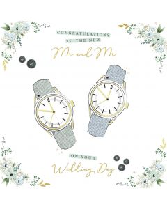 Congratulations to the new Mr and Mr on your Wedding Day card