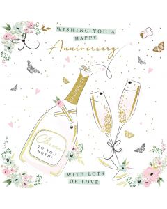 Wishing You a Happy Anniversary with Lots of Love card