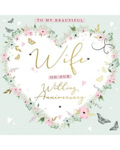 To my Beautiful Wife on our Wedding Anniversary Card