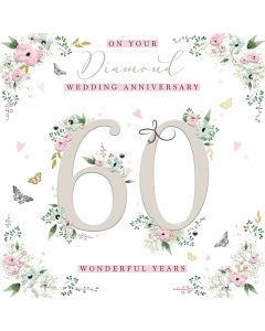 On your Diamond Wedding Anniversary 60 wonderful years card