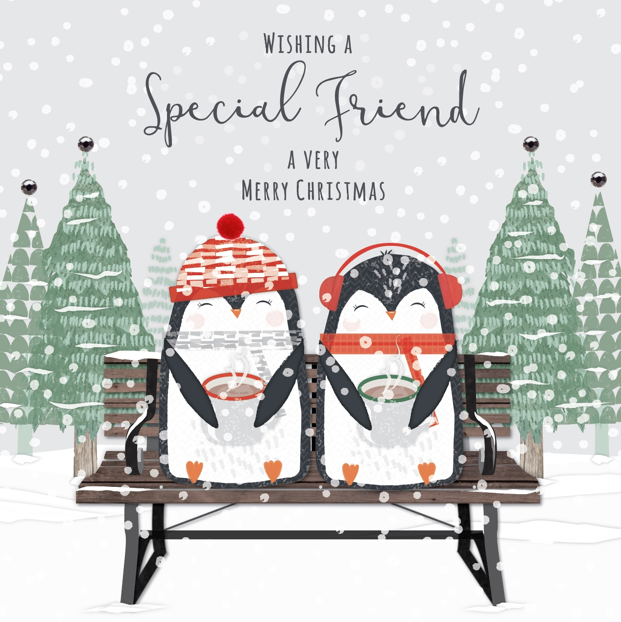 Festive Friends - Wishing a Special Friend and Very Merry Christmas